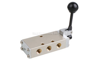 """China Hand Lever Pneumatic Directional Control Valve Five Way PT1/4"""" supplier"""