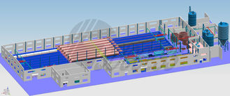 Fully automatic Autoclaved Aerated Concrete Production Line for Industrial