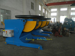 China Manual 1500mm Welding Turn Tables And Double Turning Positioner With Cradle Type supplier