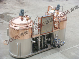 China 15HL / 5HL Direct Fired Micro Brewing Equipment With Two Tanks For Wort Processing supplier