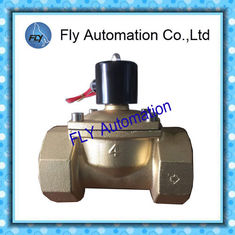 China DN100 4 Inch  Water Pressure Valves Threaded 2 Way Brass 2/2 way AC220V DC24V supplier