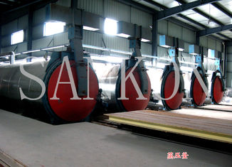 China Autoclaved Aerated Concrete?plant AAC autoclave equipment also used in chemical / textile industry supplier