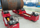 China Lead Screw Adjusting Welding Rotator 20Tons With Steel And Rubber Roller factory