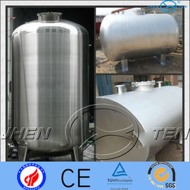 China Asme Horizontal Stainless Steel Pressure Vessel Tank  Mirror Matt factory