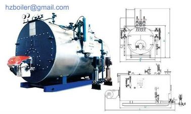 China Horizontal Oil & Gas Fired Steam Boiler factory