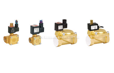 China Directly Acting 2 Way Pneumatic Solenoid Valve , 15 mm Water Brass Valve factory