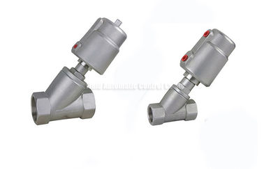 China DN10~DN80 Stainless Steel Piston Angle Seat Valve With Stainless Steel Actuator factory