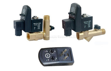 China 16bar 5mm Brass Timer Automatic  Drainer With Strainer Filter and Drainage Valve factory
