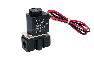 China 2.5mm Plastic Steel Two Position Two Way Solenoid Valve , Direct Acting Valve factory