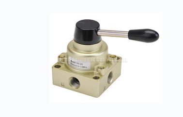 """China 3 Position 4 Way Pneumatic Manual Directional Control Hand Switching Valve G1/4""""~G1/2"""" factory"""