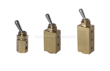 China Miniature Two Position Five Way Manual Directional Control Brass Hand Toggle Valve factory