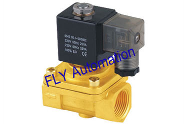 China NBR or VITON Sealed Brass Zinc Two Ways Electric Water Solenoid Valves PU220-08 factory