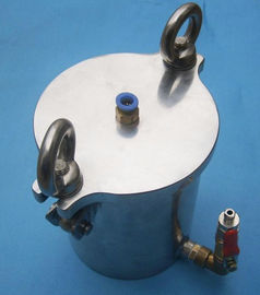 China Red Glue / Solder Past Dispensing Pressure Vessel 5L Stainless Steel Pressure Container factory