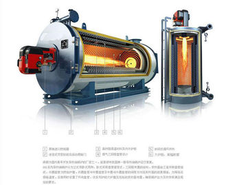 China Horizontal Gas Fired Electric Thermal Oil Boiler 300kw For Wood , Less Water factory