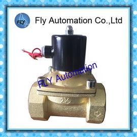 """China 2.5"""" Threaded 2 Way Water Solenoid Valves Brass / stainless steel body AC220V DC24V factory"""