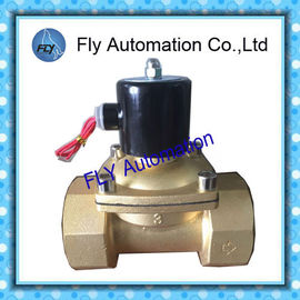 China 3inch Operated Directly 760mm Water Solenoid Valves , Threaded 2 Way Brass valves factory