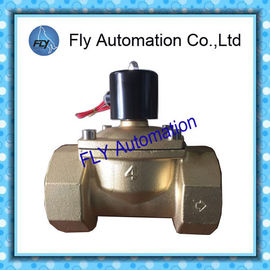 China DN100 4 Inch  Water Pressure Valves Threaded 2 Way Brass 2/2 way AC220V DC24V distributor