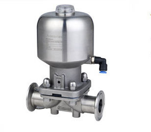 China Stainless Steel Sanitary Valves Pneumatic Diaphragm Control Valve Ф12.7 - Ф102 DN10 - DN100 factory