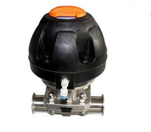China Pneumatic Diaphragm Valve Stainless Steel Valves with Plastic Atuator DN25 - DN50 factory