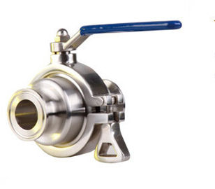 "China Sanitary Pneumatic Stainless Steel Ball Valve High Temperature DN15 - DN50 3/4"" - 2"" factory"