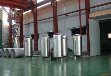 China Stainless steel pressure vessel air compressor tank  / air receiver  4.5m3 factory