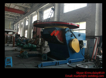 China 1.2T Pressure Vessel Pipe Rotary Welding Positioner With Worktable Revolving And Tilting Type factory