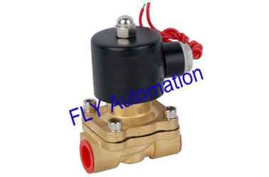 China 24VDC,110VAC 2W160-15 Round Coil 2 Way Brass Water Solenoid Valve With Customized factory