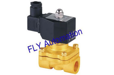 China 220VAC DIN43650A 2 Way Forged Brass Conductive Water Solenoid Valves 2W160-10 UW-10 factory