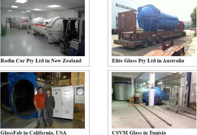 Laminated Glass Autoclave For Wood / Brick / Rubber / Food , Light Weight