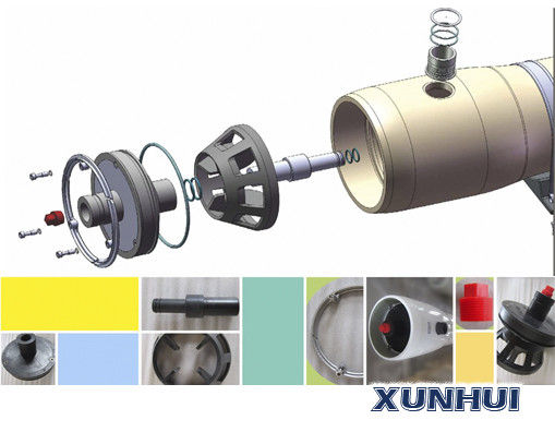 "2.5""  FRP pressure ro membrane housing for seawater desalination RO system 1000 psi end entry port"